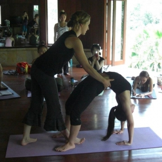 "Japanese Yoga Teacher Training at Bagus Jati<br/><span class=""loc-g""><i class=""fa fa-map-marker"" aria-hidden=""true""></i> Ubud, Bali</span><br/><span class=""date-g""><i class=""fa fa-calendar"" aria-hidden=""true""></i> November 4 - November 30 2012</span>"