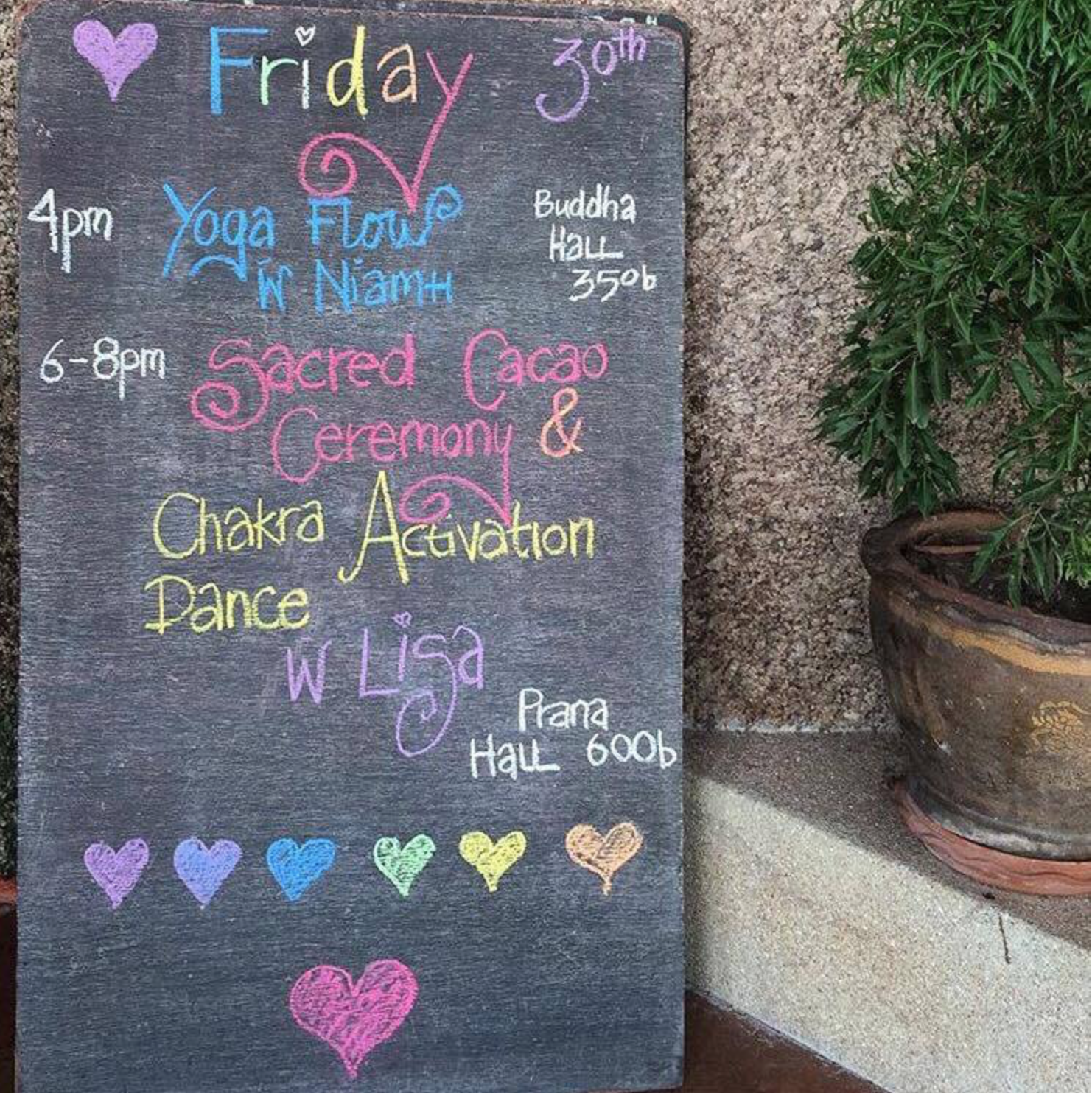 Sanctuary Thailand Yoga Schedule