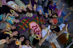 flower mandala graduation ceremony ubud bali yoga barn